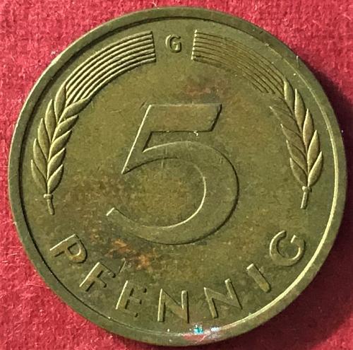 Germany 1978 G (G - Karlsruhe mint) - 5 Pfennig [#1]