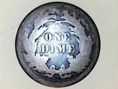 1887 P SEATED DIME--AG-G
