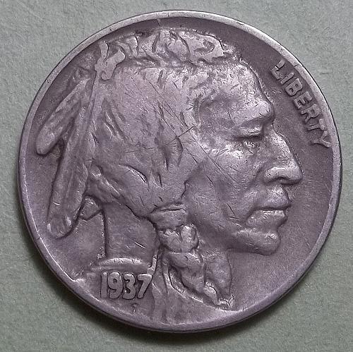 1937p  Buffalo Nickel  Lot BN4x