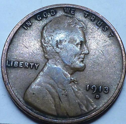 Here is a 1913-D Very Fine Lincoln Wheat Cent  (X-124)