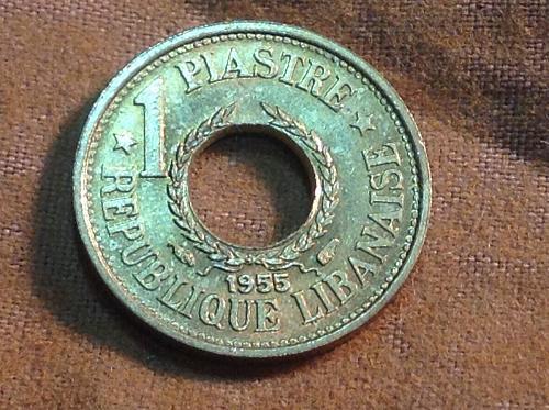 1955 Lebonan 1 Piastries