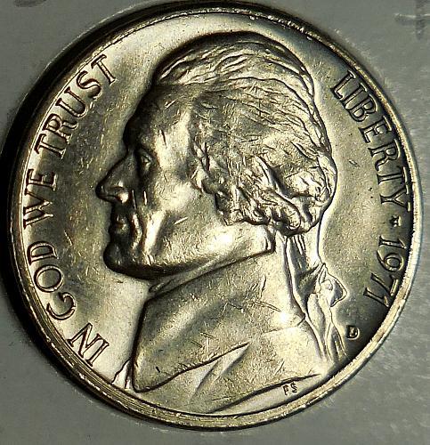 1971-D Jefferson Nickel Low D Full Steps