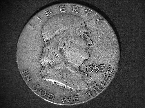 1953 - S Franklin Half Dollar