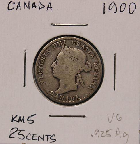 Canada 1900 25 cents