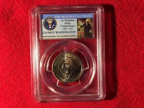 2007 George Washington $1 Missing Edge Lettering PCGS MS64 Mint Error