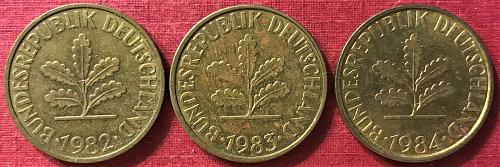 Germany 1982-1984 F (F - Stuttgart mint) - 10 Pfennig
