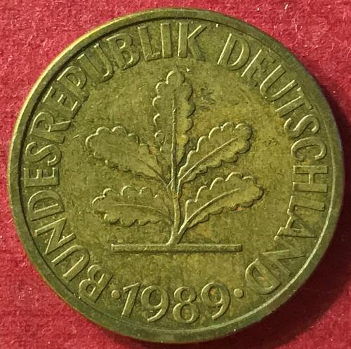 Germany 1989 G (G - Karlsruhe mint) - 10 Pfennig