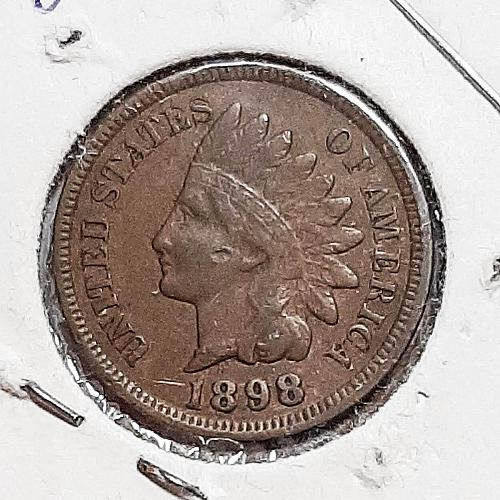 1898-P Indian Head Cent VF