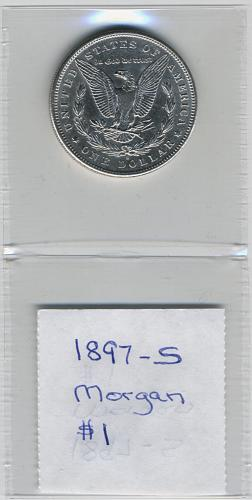1897-S Morgan Silver Dollar   Choice Uncirculated