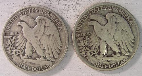 Walking Liberty Halves 4 coins to choose from