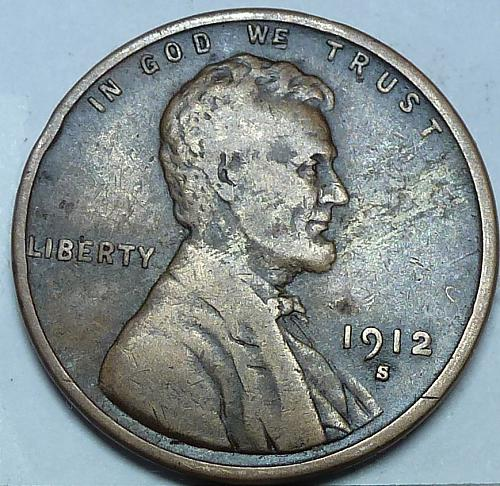 1912-S Very Fine Lincoln Wheat Cent ( B-204 )