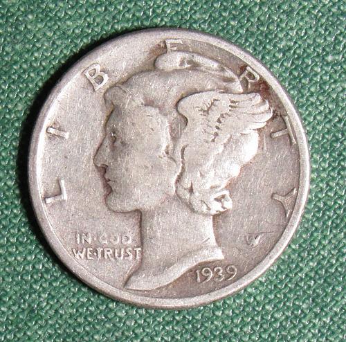 1939P Mercury Dime