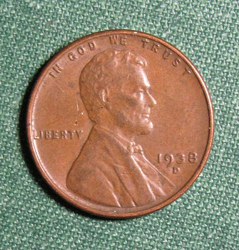 1938D Lincoln Wheat Back Cent