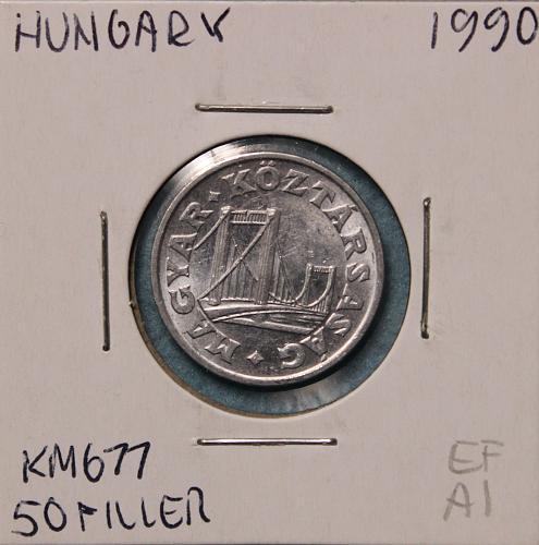 Hungary 1990 50 filler