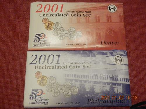 2001 P-D MINT SET Direct from the Mint in OGP