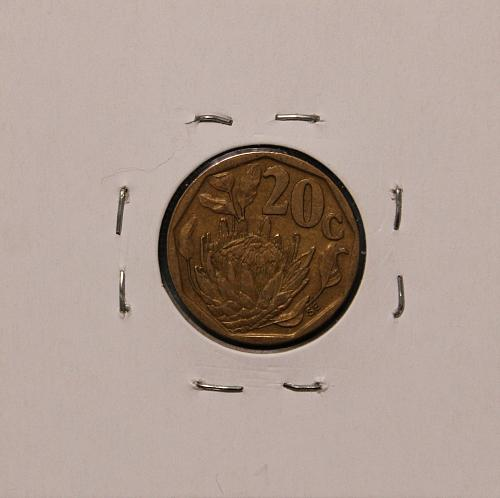 South Africa 1993 20 cents