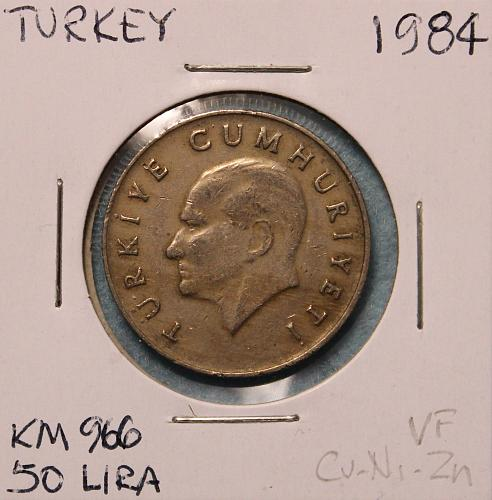 Turkey 1984 50 lira
