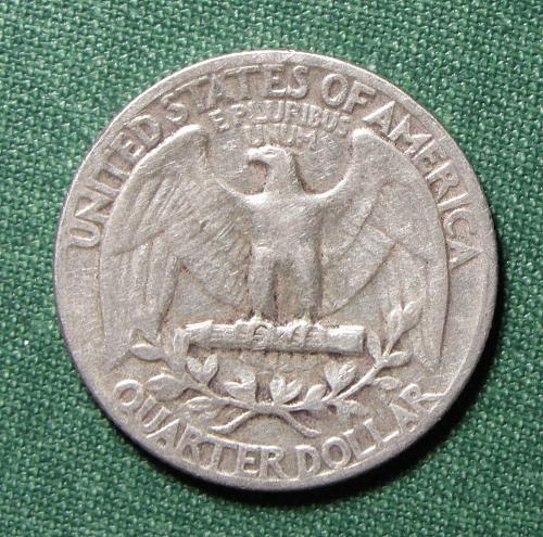 1955P Washington Silver Quarter