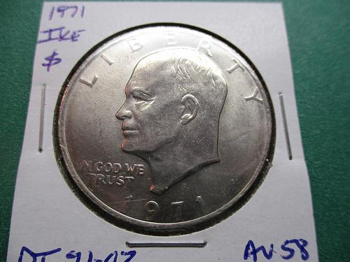 1971  Eisenhower Dollar.  Item: DI 71-02.
