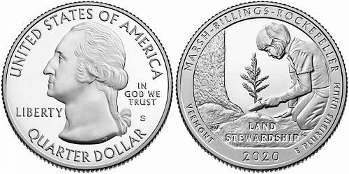 2020 S Marsh-Billings-Rockefeller America The Beautiful Quarter