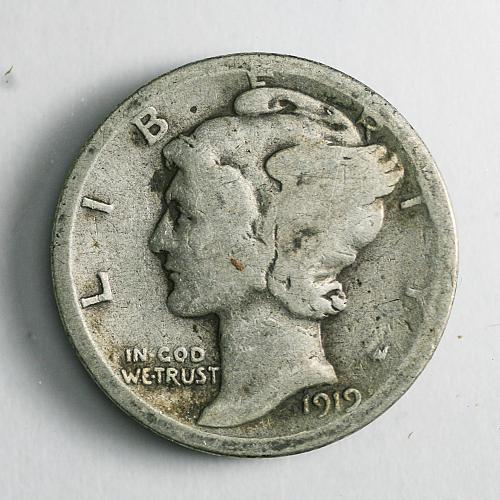 1919 D Mercury Dime G