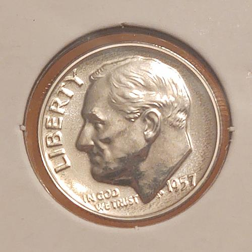 1957  Roosevelt Dime -Silver  Proof