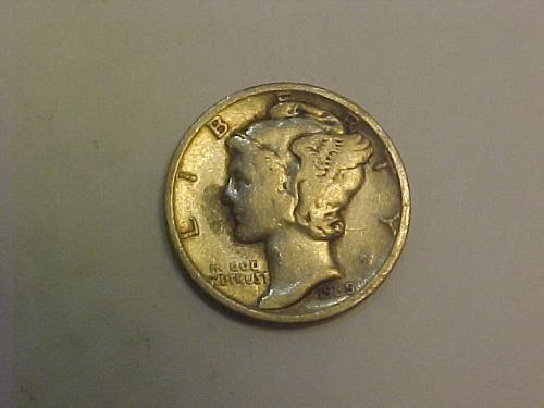 1935 MERCURY DIME          ag75