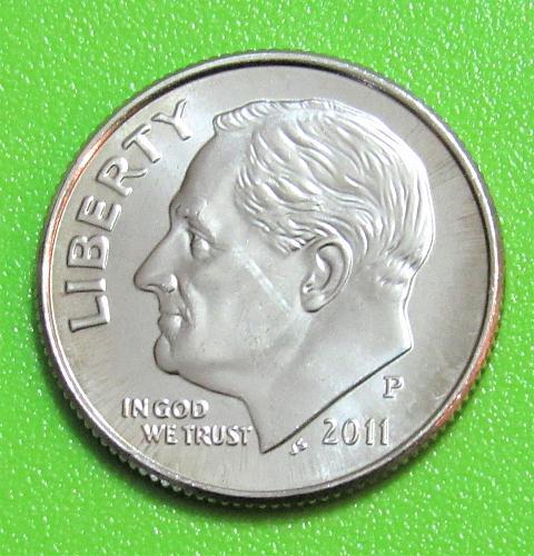 2011-P 10 Cents - Roosevelt Dime