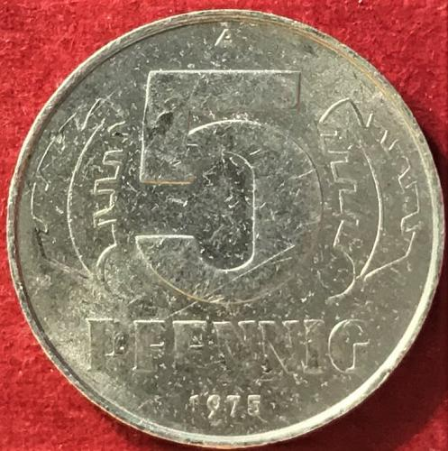 German Democratic Republic (GDR) - 1975 A (A - Berlin mint) -  5 Pfennig [#1]