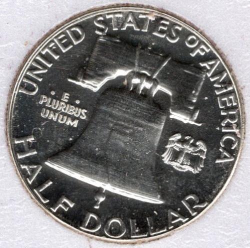 1957 P Franklin Half Dollars -#5b