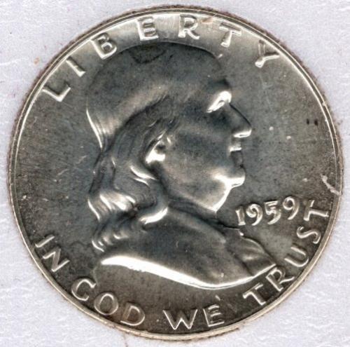1959 P Franklin Half Dollars -#5b