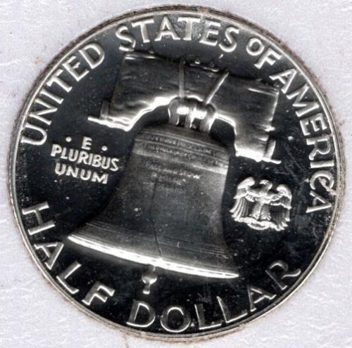 1961 P Franklin Half Dollars -#5b