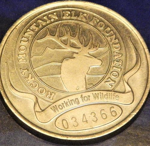 1998  ROCKY MOUNTAIN ELK FOUNDATION SERIAL # TOKEN