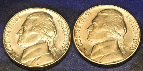 1950-P-D Jefferson Nickels  SET