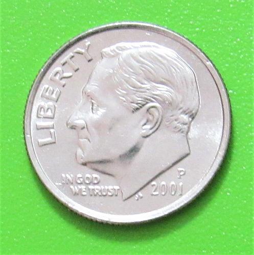 2001-P 10 Cents - Roosevelt Dime