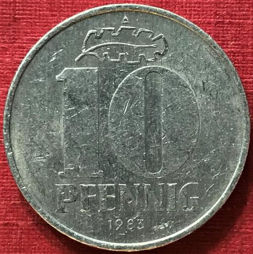 German Democratic Republic (GDR) - 1983 A (A - Berlin mint) -  10 Pfennig [#2]