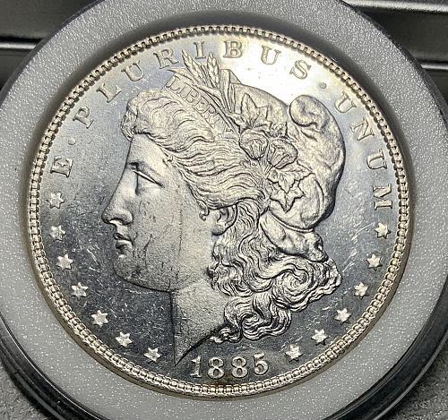 1885-P Choice BU Reflective/ProofLike Mint Luster High Grade Morgan US Silver Do