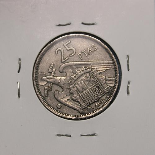 Spain 1957(58) 25 Pesetas