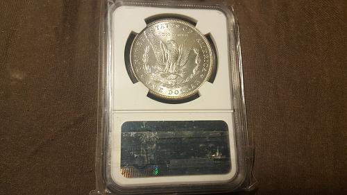 1887 Morgan Silver Dollar NBC MS64+