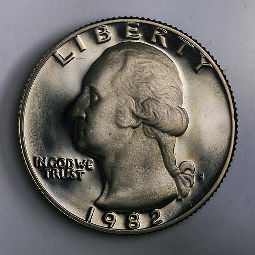 1982 S Washington Quarter Proof