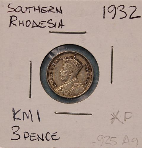 Southern Rhodesia 1932 3 pence