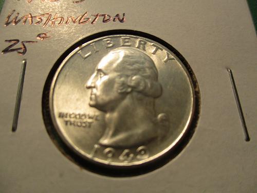 1943-S  MS63 Washington Quarter.  Item: 25 W43S-01.