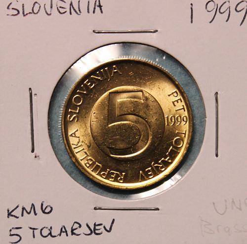 Slovenia 1999 5 Tolarjev