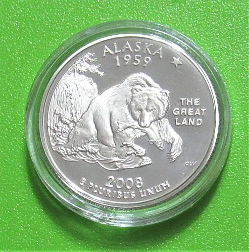 2008-S 25 Cents - Alaska State Quarter - Cameo Proof