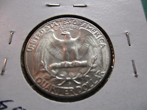 1954-S  MS62 Washington Quarter.  Item: 25 W54S-04.