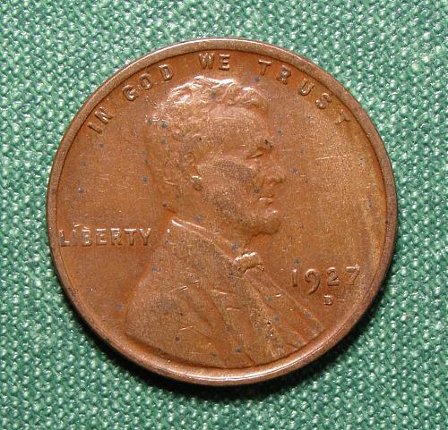 1927D Wheat Back Lincoln Cent