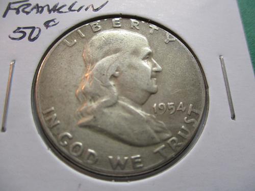 1954  F12 Franklin Half Dollar.  Item: 50 F54-04.