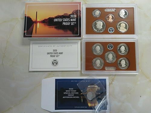 """🎀 2020-S US Mint Proof Coin Set, including """"W"""" Nickel"""