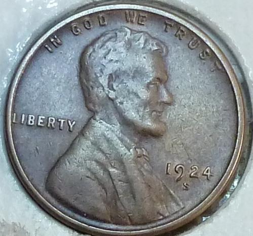 1924-S  Extra Fine Lincoln Wheat Cent ( # R-119 )