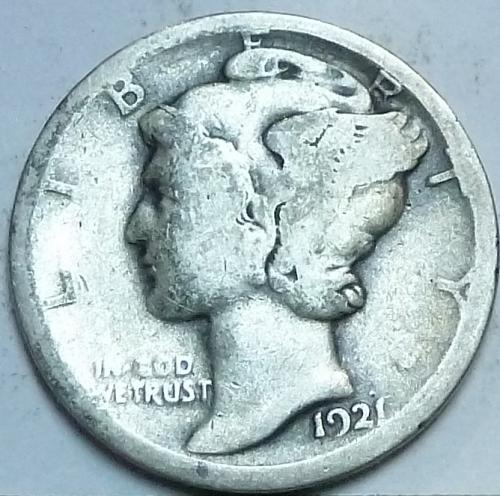 1921-P Very Good Mercury Dime   ( S-203)
